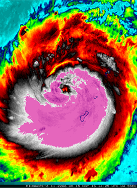 Super Typhoon Dolphin Becomes Earth's 5th Category 5...