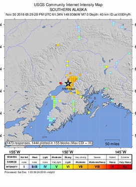 A magnitude 7.0 earthquake struck north of Anchorage,...
